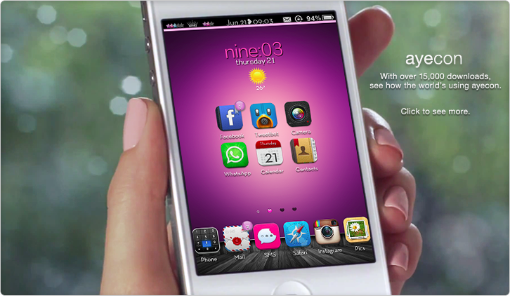 Ayecon, il tema più bello e completo per iPhone e iPad | Cydia Themes