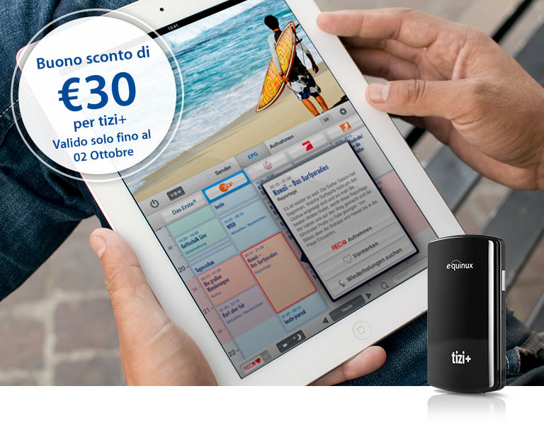 30€ di sconto per Tizi+, il decoder digitale terrestre per iPhone e iPad