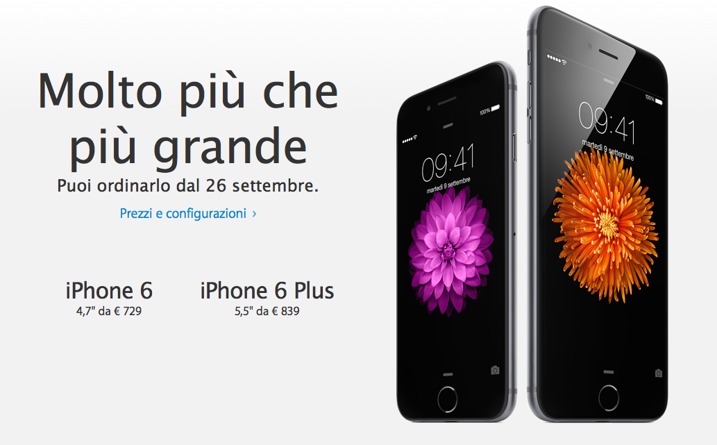 iPhone 6, iPhone 6 Plus ed Apple Watch date e prezzi