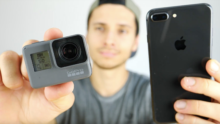 iPhone 8 Plus vs GoPro Hero 6 nei video 4K a 60fps, chi vince? [VIDEO]